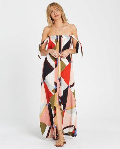5 Rainbow Gate Printed Maxi Dress  JD06SBRA Billabong