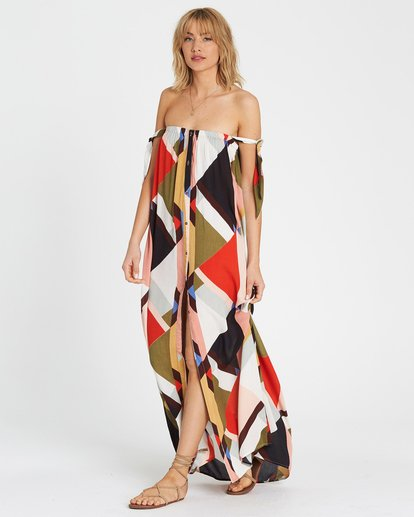 2 Rainbow Gate Printed Maxi Dress  JD06SBRA Billabong