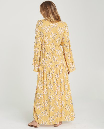 4 My Favorite Maxi Dress Yellow JD06TBMY Billabong