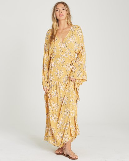 2 My Favorite Maxi Dress Yellow JD06TBMY Billabong