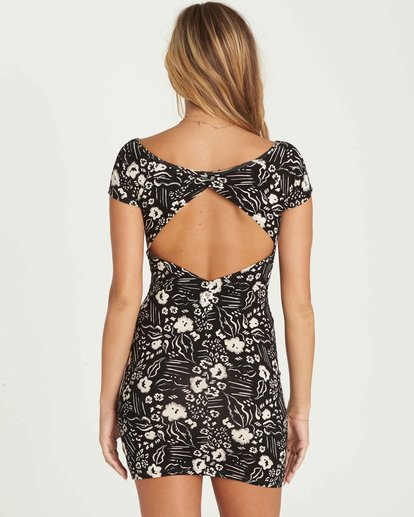 2 Babe Alert Bodycon Mini Dress Black JD09PBBA Billabong