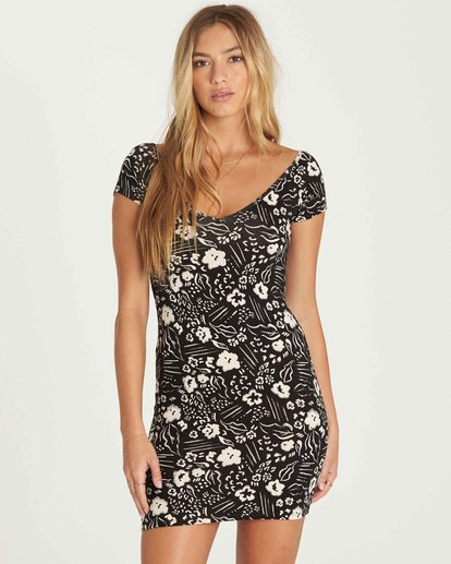 0 Babe Alert Bodycon Mini Dress Black JD09PBBA Billabong