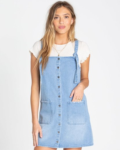 0 The Ringer Denim Dress Blue JD09TBTH Billabong
