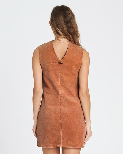2 Foxy Corduroy Mini Dress Brown JD12SBFO Billabong