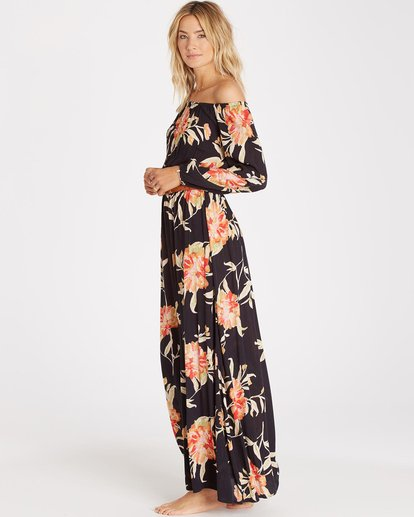 2 Crystal Ball Maxi Dress Black JD14HCRY Billabong