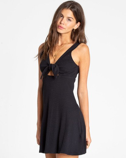1 Hola Holiday Knit Dress Black JD14TBHO Billabong