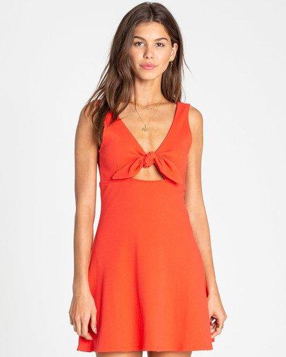 0 Hola Holiday Knit Dress Red JD14TBHO Billabong