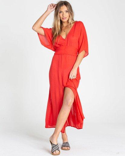 1 Forever Fine Midi Dress Red JD15TBFO Billabong