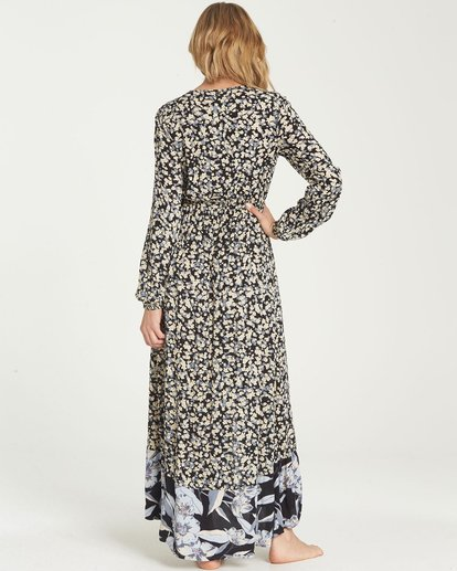 3 Allegra Kimono Dress Black JD16NBAB Billabong