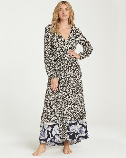 1 Allegra Kimono Dress Black JD16NBAB Billabong