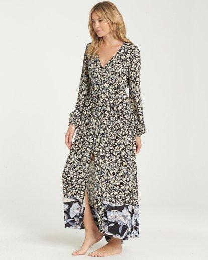 2 Allegra Kimono Dress Black JD16NBAB Billabong