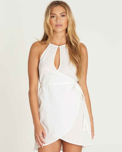 1 Aloha Baby Wrap Dress White JD16PBAL Billabong