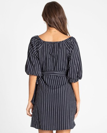 2 Best Dressed Wrap Dress Black JD16TBBE Billabong