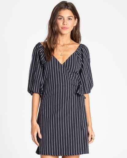 0 Best Dressed Wrap Dress Black JD16TBBE Billabong