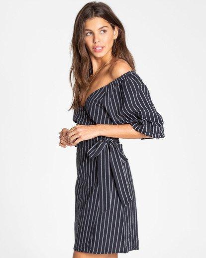 1 Best Dressed Wrap Dress Black JD16TBBE Billabong