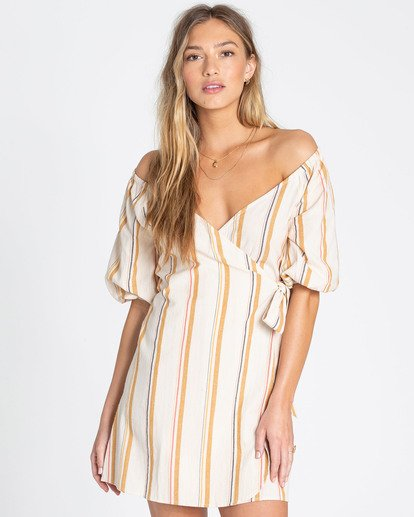 1 Best Dressed Wrap Dress White JD16TBBE Billabong