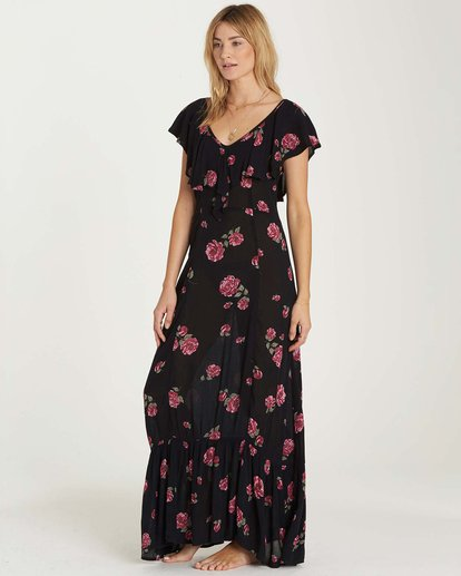 1 Southern Border Dress Black JD17MSOU Billabong