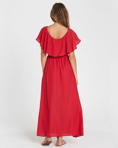 6 Dance All Night Knit Maxi Dress Red JD23SBDA Billabong