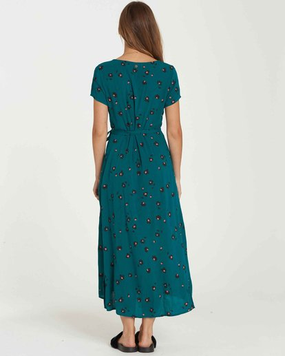 3 Wrap Me Up Dress Green JD25JWRA Billabong