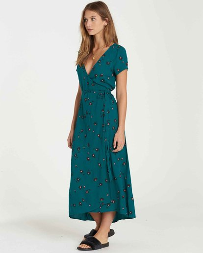 2 Wrap Me Up Dress Green JD25JWRA Billabong