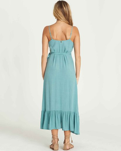 2 Hold Me Tight Wrap Maxi Dress Green JD26PBHO Billabong