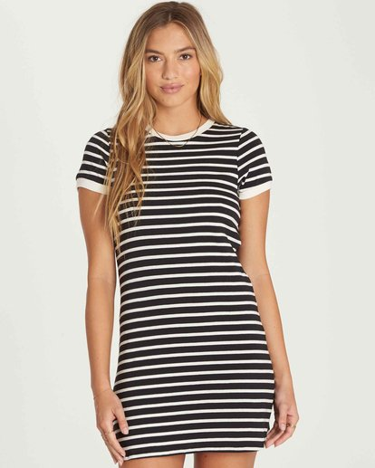 0 Go Around Mini Dress Black JD27PBGO Billabong