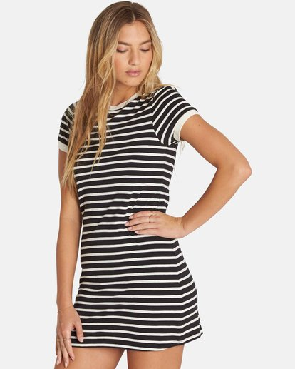 1 Go Around Mini Dress Black JD27PBGO Billabong