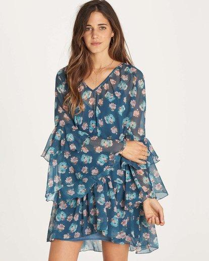 0 Stevie Sunday Dress Blue JD28LSTE Billabong