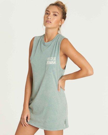 1 No Time Muscle Tee Shirt Dress  JD28PBNO Billabong