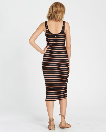 2 Share Joy Midi Bodycon Dress Brown JD30KSHA Billabong