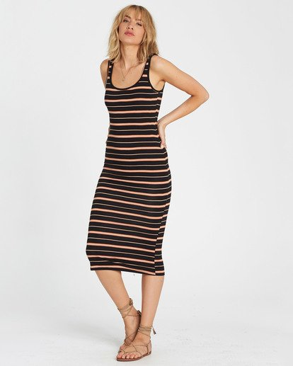 1 Share Joy Midi Bodycon Dress Brown JD30KSHA Billabong
