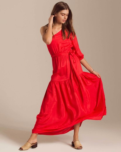 0 One Sided Maxi Dress Red JD40PBON Billabong