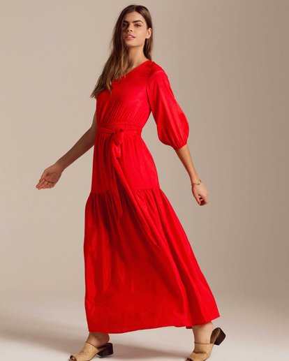 1 One Sided Maxi Dress Red JD40PBON Billabong