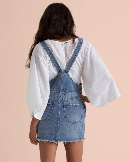 4 Sincerely Jules Fade Away Denim Skirt Overalls Blue JD67TBFA Billabong