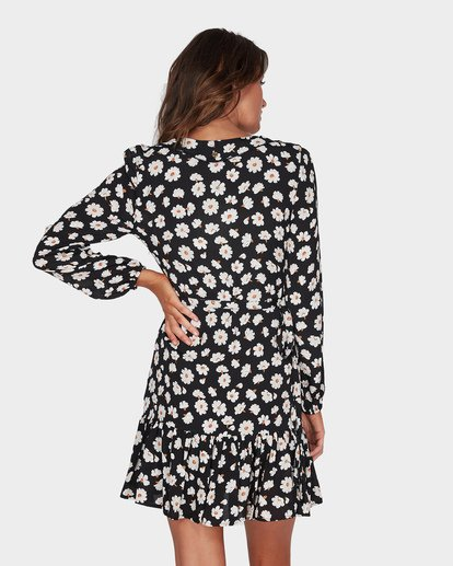 2 Margherita Wrap Mini Dress Black JD93TBMA Billabong
