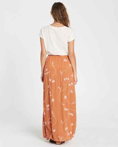 6 Love Trip Printed Maxi Skirt Brown JK02SBLO Billabong
