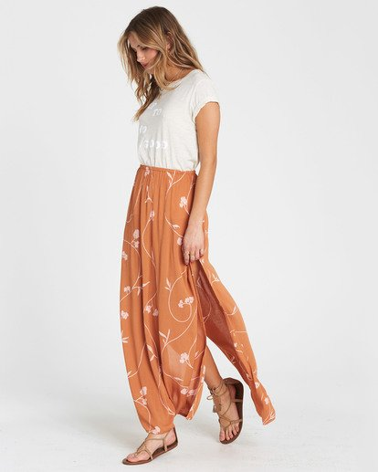 4 Love Trip Printed Maxi Skirt Brown JK02SBLO Billabong