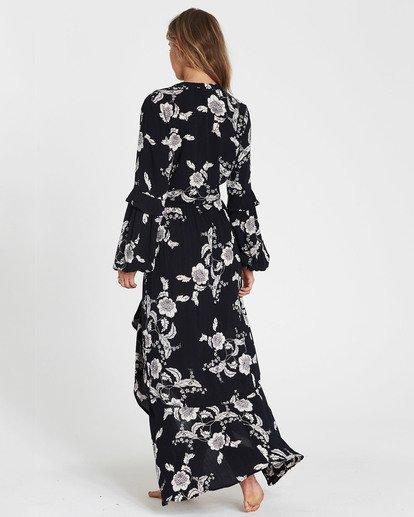 5 Kick Twist Floral Print Maxi Skirt Black JK03SBKI Billabong
