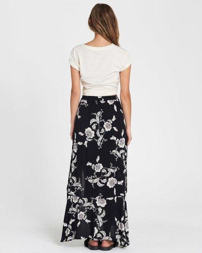 6 Kick Twist Floral Print Maxi Skirt Black JK03SBKI Billabong