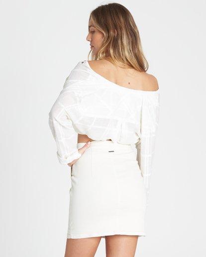 2 Ride Right Fitted Denim Skirt White JK03TBRI Billabong