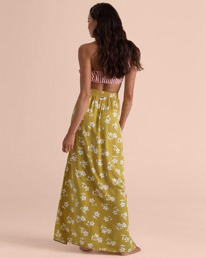 4 Sincerely Jules High Heights Maxi Skirt Yellow JK05TBHI Billabong