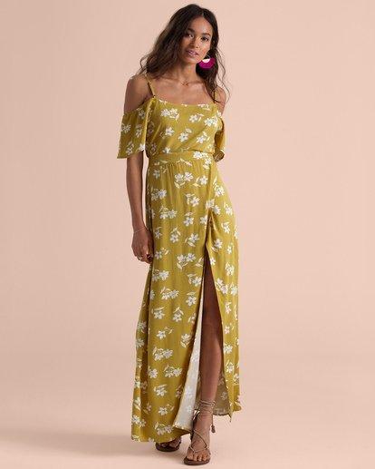 5 Sincerely Jules High Heights Maxi Skirt Yellow JK05TBHI Billabong