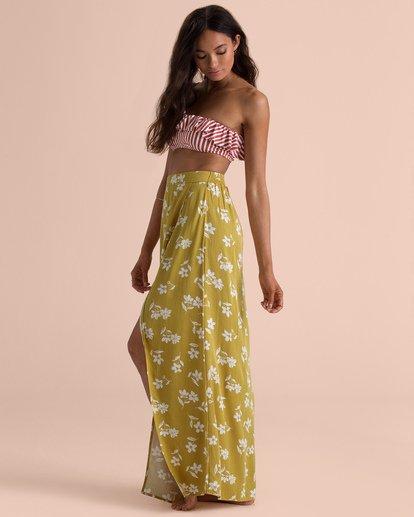 3 Sincerely Jules High Heights Maxi Skirt Yellow JK05TBHI Billabong