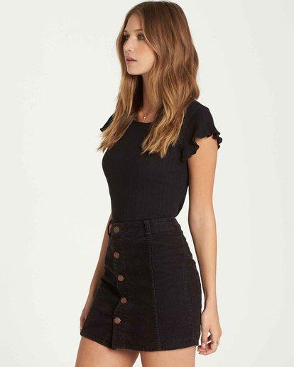 2 Push My Buttons Cord Mini Skirt  JK10QBPU Billabong