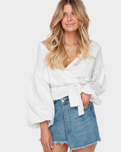 1 The Wrap Denim Skirt Blue JK10SBWR Billabong