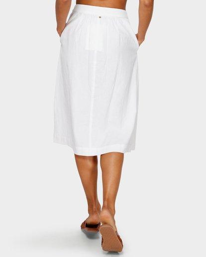 5 Alhambra Midi Skirt White JK20TBAL Billabong