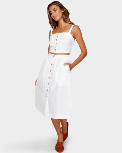 3 Alhambra Midi Skirt White JK20TBAL Billabong