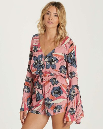 1 Sittin Pretty Romper Red JN01NBSI Billabong