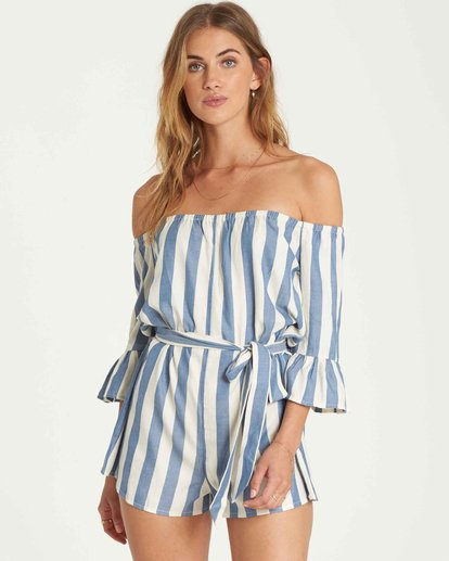 1 Fun For Now Romper Blue JN02QBFU Billabong