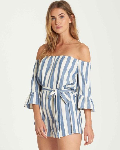 2 Fun For Now Romper Blue JN02QBFU Billabong